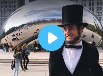 Mr. Lincoln Visits Millenium Park in Chicago (11/14/2016)